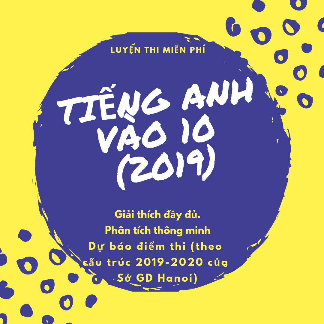 Luyện thi tiếng Anh vào lớp 10 năm 2019